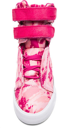 Supra PINK PARTY EXCLUSIVE Society Nylon & Horse Hair Sneakers in Pink