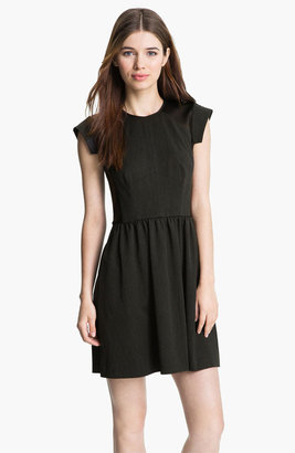 Rebecca Taylor Twill Fit & Flare Dress