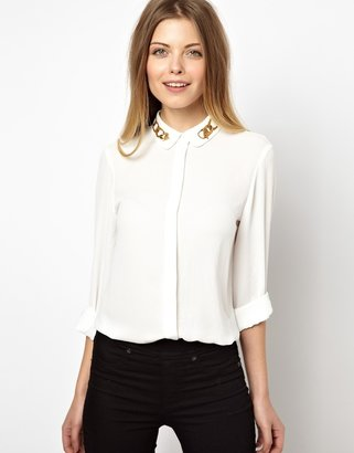 Asos Shirt with Chain Print Collar