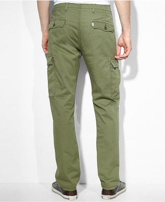 Levi's Slim Straight-Fit Burnt Olive Cargo Pants