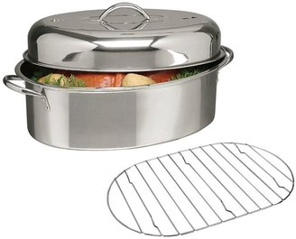 Gibson 16-in. Stainless Steel Oval Covered Roaster