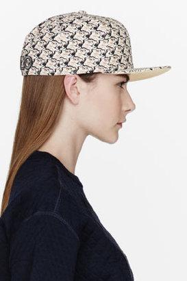Kenzo Brown & Black Tiger head print New Era Cap