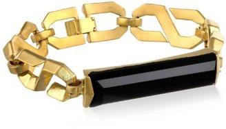 "Sam Edelman S-Chain Black Identification Bracelet, 7.25"""