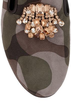 Giuseppe Zanotti Camouflage suede loafer