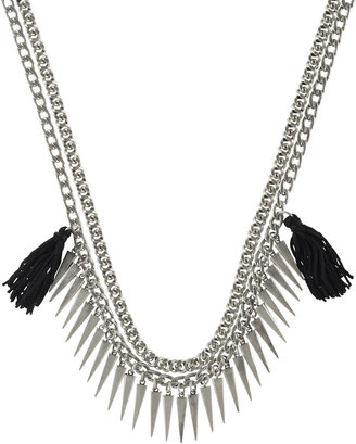 Rebecca Minkoff Tassel Chain Spike Necklace