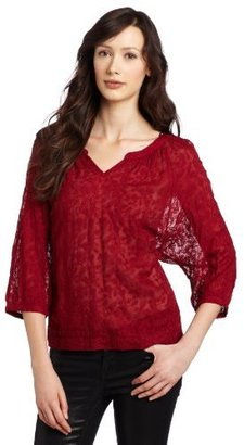 Lucky Brand Women's The Travelers Embroidered Top