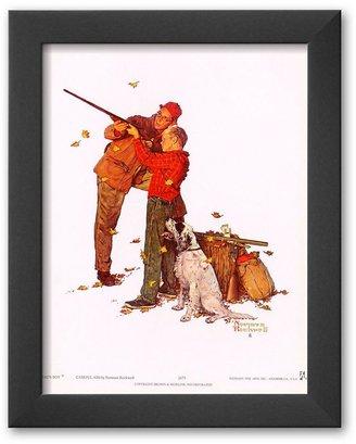 "Art.com Careful Aim"" Framed Art Print by Norman Rockwell"