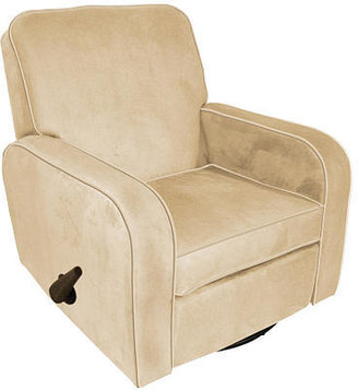 NEW Corp Newco Sunny Swivel Reclining Glider - Beige Micro Suede