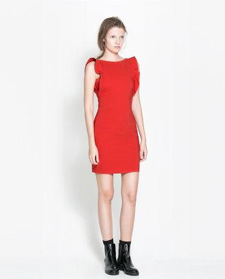 Zara Sleeveless Tube Dress With Ruffles
