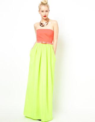 Aqua Mary Maxi Dress With Belt