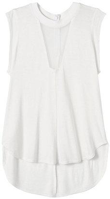 Rebecca Taylor Short Sleeve Knit & Chiffon Top