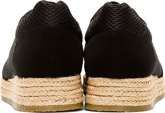 Stella McCartney Black Mesh Espadrille Sneakers