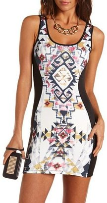 Charlotte Russe Tribal Panel Body-Con Dress