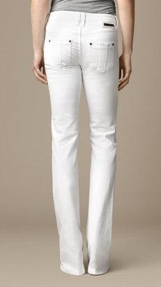 Burberry Hempton White Bootcut Jeans