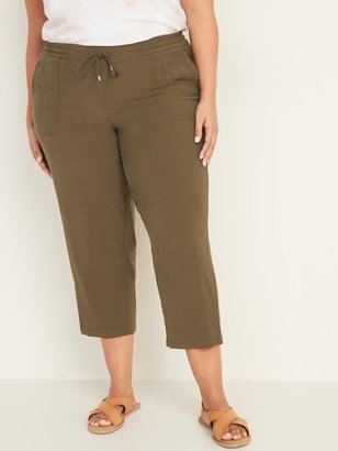 Old Navy Mid-Rise Plus-Size Pull-On Soft Cropped Utility Pants