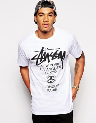 Stussy T-shirt World Tour Print