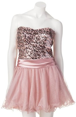 My Michelle shimmer party tube dress - juniors