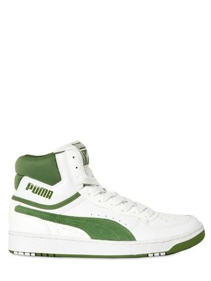 Puma Life Style - Suede And Calfskin High Top Sneakers