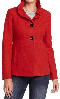 Old Navy Women's Ruffle-Collar Wool-Blend Coats