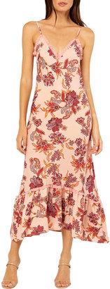 MISA Negin Paisley-Print Midi Dress