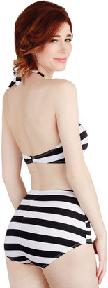 Esther Williams Snack Bar Beauty Two-Piece Swimsuit in Black