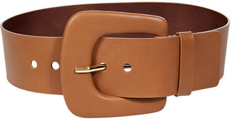 Maison Martin Margiela Cognac Leather Belt with Oversized Buckle