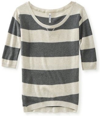 Aeropostale Rugby Stripe Marled Pullover Sweater