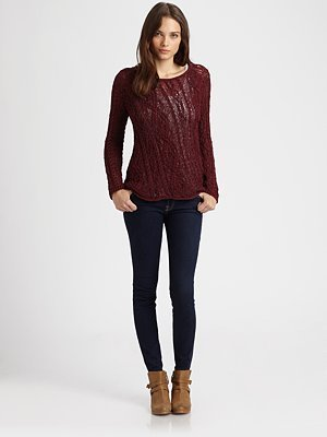 Joie Sage Cable Sweater
