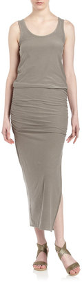 James Perse Slit-Side Maxi Dress, Graystone