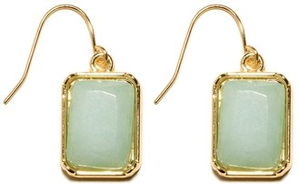 The Limited Faceted Rectangle Drop Earrings