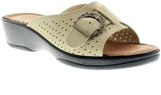 Spring Step Flexus by Edella Leather Slide Sandals