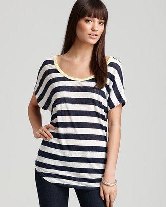 Joie Top - Maddie Striped Linen
