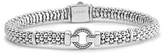 Women's Lagos Enso Boxed Circle Station Caviar Rope Bracelet $325 thestylecure.com