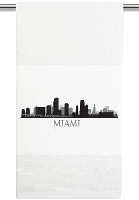 Mariasch Studios Miami Skyline Kitchen Towel