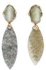 Lucifer Vir Honestus First Lady Quartz and Agate Earrings - Rose Gold