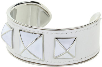 Rebecca Minkoff Small Enamel Stud Leather Cuff