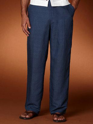 Cubavera Houndstooth Drawstring Linen Pant