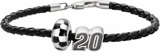 "Insignia Collection NASCAR Matt Kenseth Leather Bracelet & Sterling Silver ""20"" Bead Set"