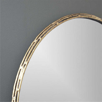 "CB2 Tork Brass Dripping 30"" Wall Mirror"