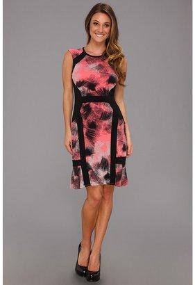 Max & Cleo Janie Knit Casual Dress (Bright Coral) - Apparel