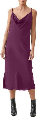 Michael Stars Pearl Cowl-Neck Midi Slip Dress