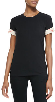 Burberry Short-Sleeve Long Tee, Black $125 thestylecure.com