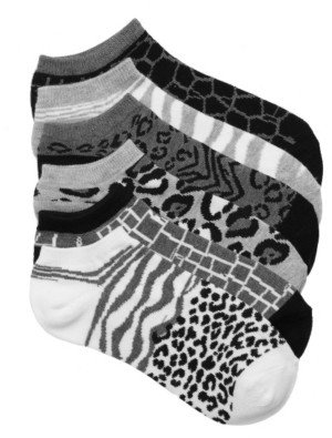 Mix No. 6 Animal Print Women's No Show Socks - 6 Pack