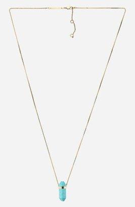 MICHAEL Michael Kors Michael Kors 'Seaside Luxe' Long Stone Pendant Necklace