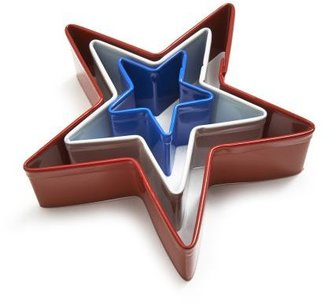 Sur La Table Red, White and Blue Star Cookie Cutters, Set of 3