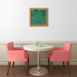 "Amanti art ""Field of Poppies (Campo di Papaveri)"" Framed Canvas Art by Gustav Klimt"