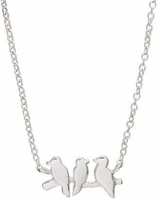 "Unwritten Mini Bird Pendant Necklace in Sterling Silver, 16"" + 2"" extender"