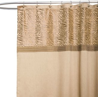 Serengeti Tan Fabric Shower Curtain