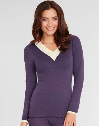 Figleaves Thermal Pointelle Thermal Long Sleeve Top