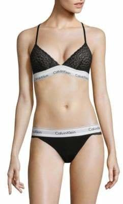 Calvin Klein Modern Lace Unlined Triangle Bra